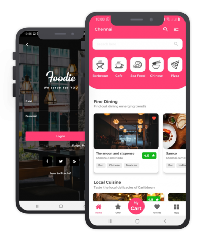 Foodiee Flutter Themes, Templates, Material Kit, UI/UX and App
