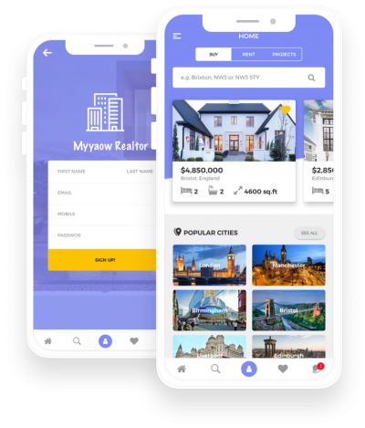 Myyaow Realtor Flutter Themes, Templates, Material Kit, UI/UX and App