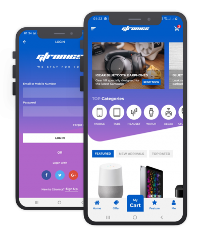 Gtronics Flutter Themes, Templates, Material Kit, UI/UX and App