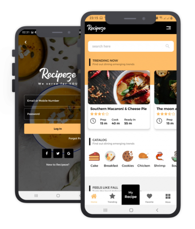 Recipeze Flutter Themes, Templates, Material Kit, UI/UX and App